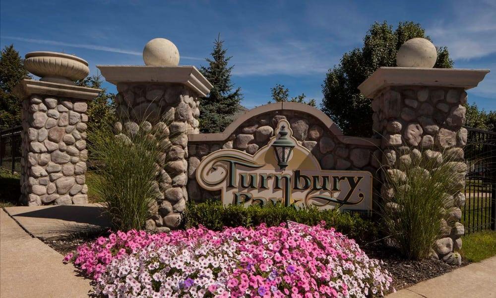 Turnbury Park signage in Canton, MI
