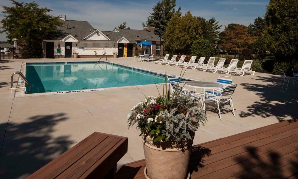 Community swimming pool at Northridge apartments