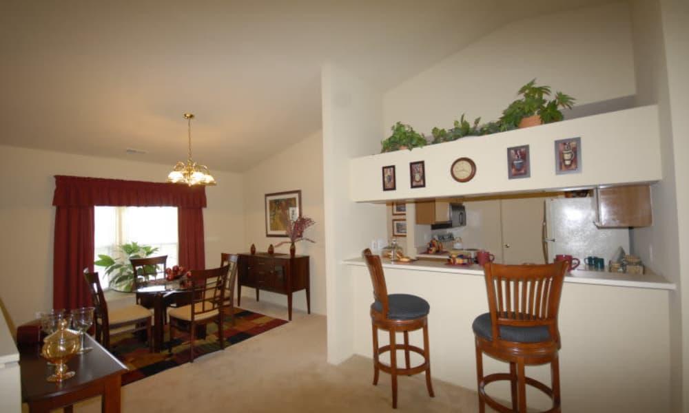 White apartment interior at Northridge homes