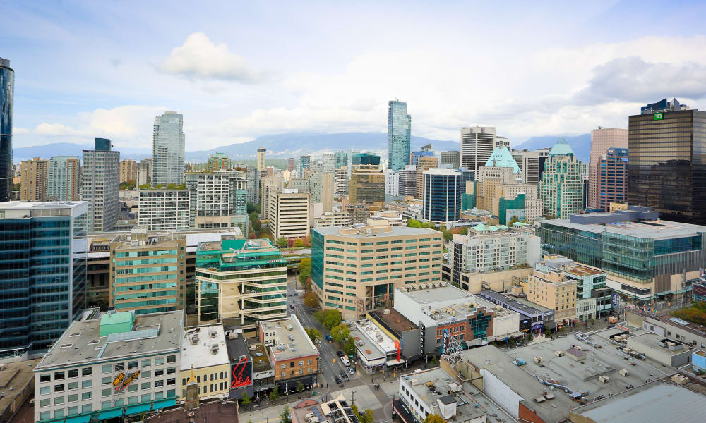 Skyline view of Vancouver
