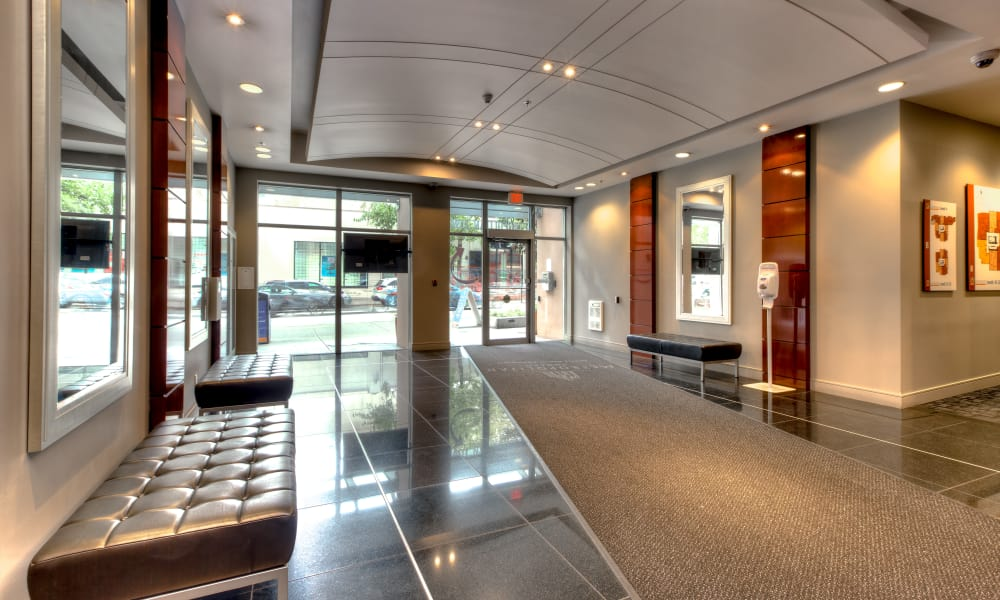 Lobby area at Metropolitan Towers in Vancouver