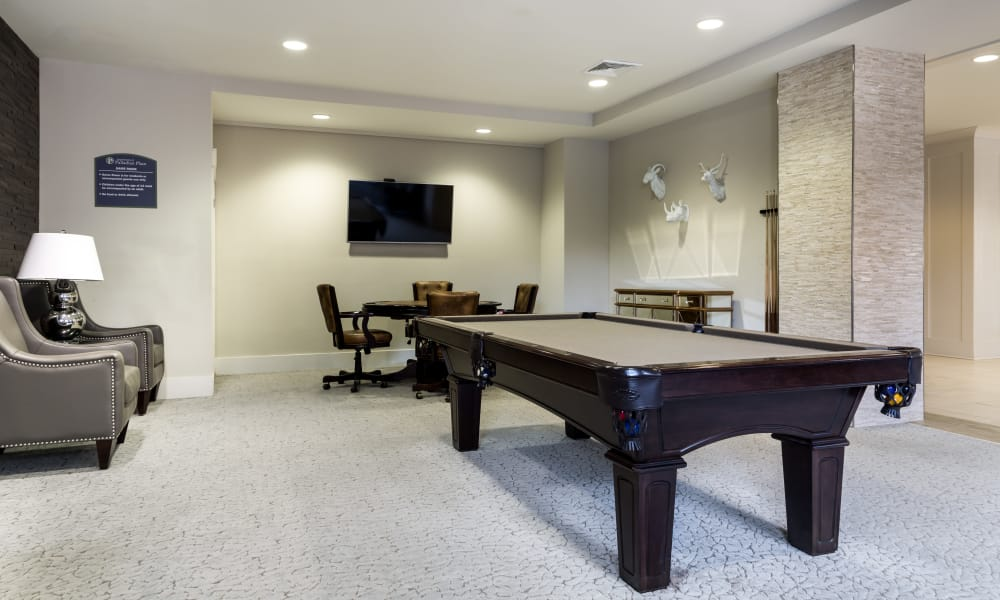Pool table at Solstice Signature Apartment Homes in Orlando