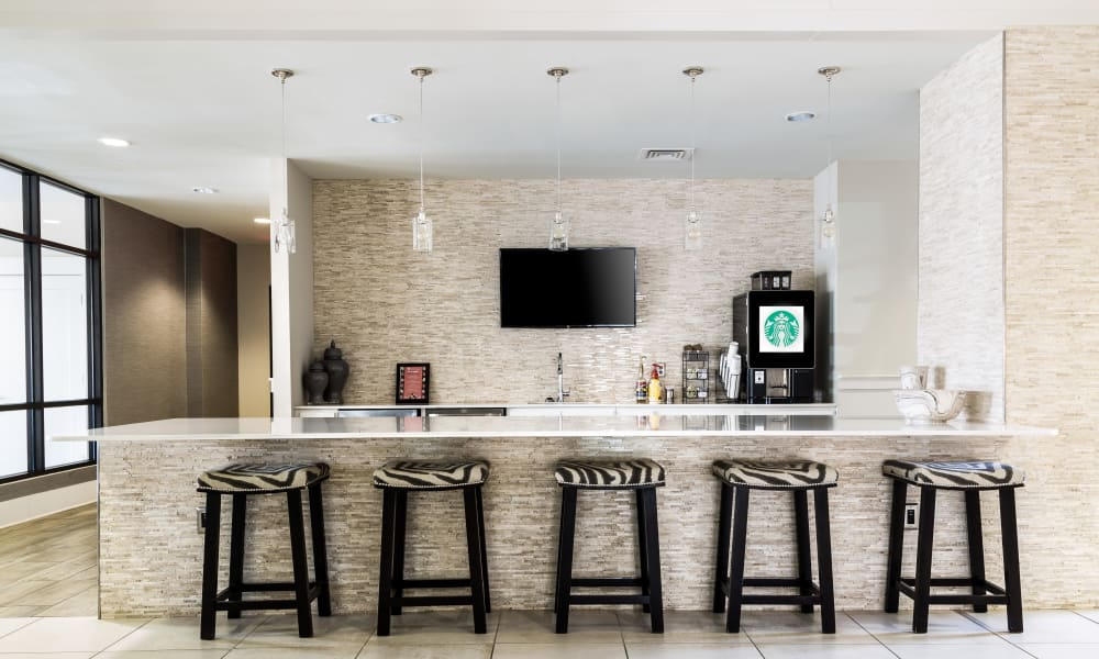 Coffee bar at Solstice Signature Apartment Homes in Orlando