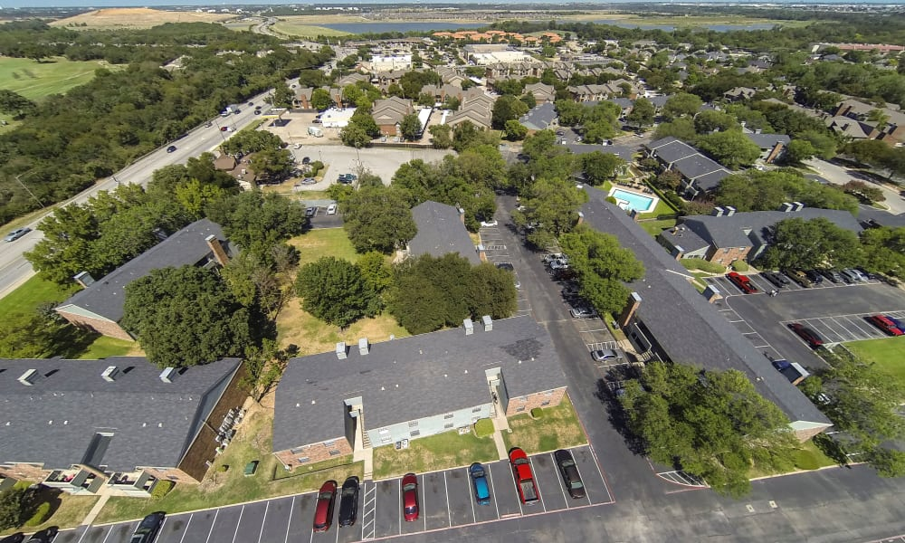 Aerial view at Ridgewood Preserve in Arlington, TX