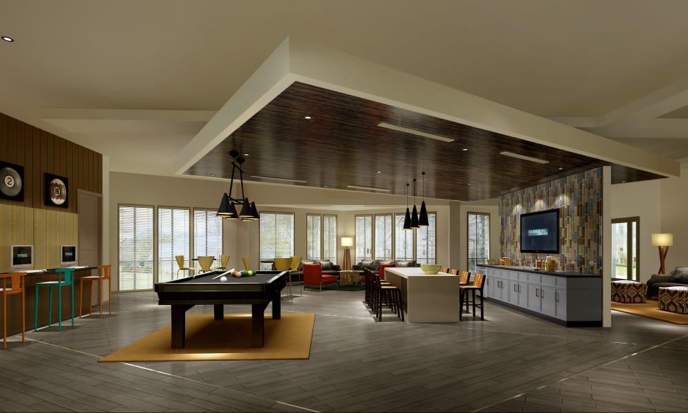 Interior of the Harrison Grande clubhouse