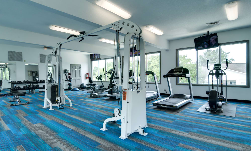 Stay healthy in our fitness center in Cary, North Carolina