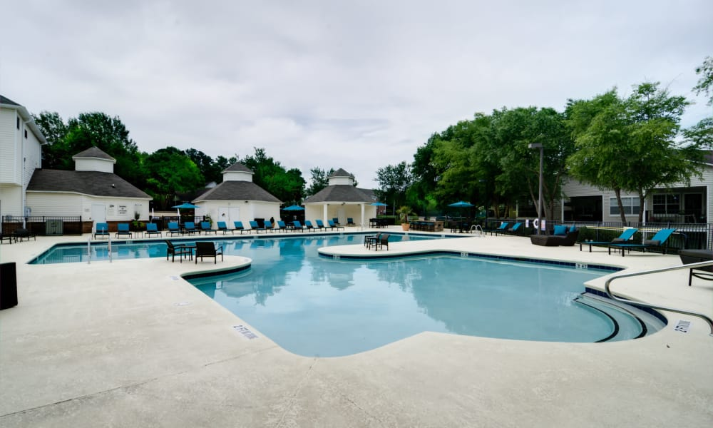 Sparkling swimming pool at Harrison Grande