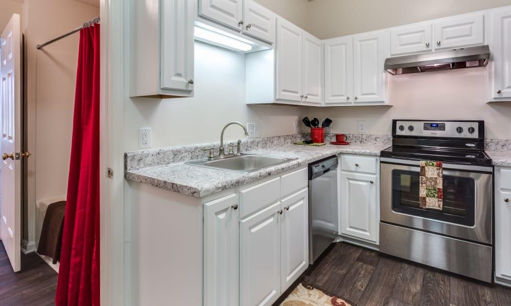 Modern kitchen at Harrison Grande in Cary, North Carolina
