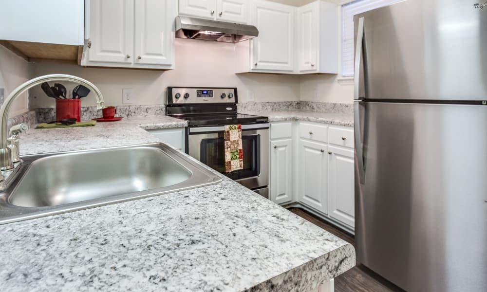 Stainless steel appliances at Harrison Grande in Cary, North Carolina