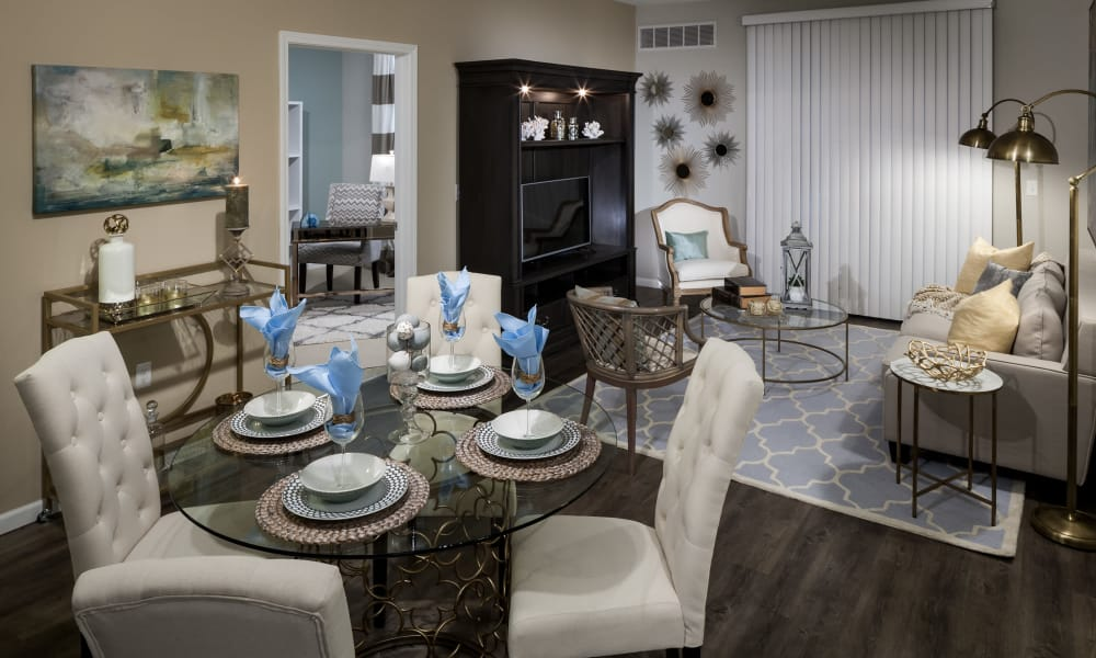 Dining room at a Avenida Partners, LLC community