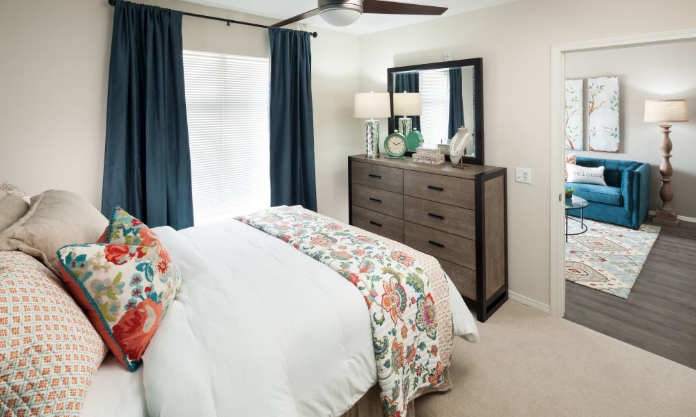 Inviting bedroom at a Avenida Partners, LLC community