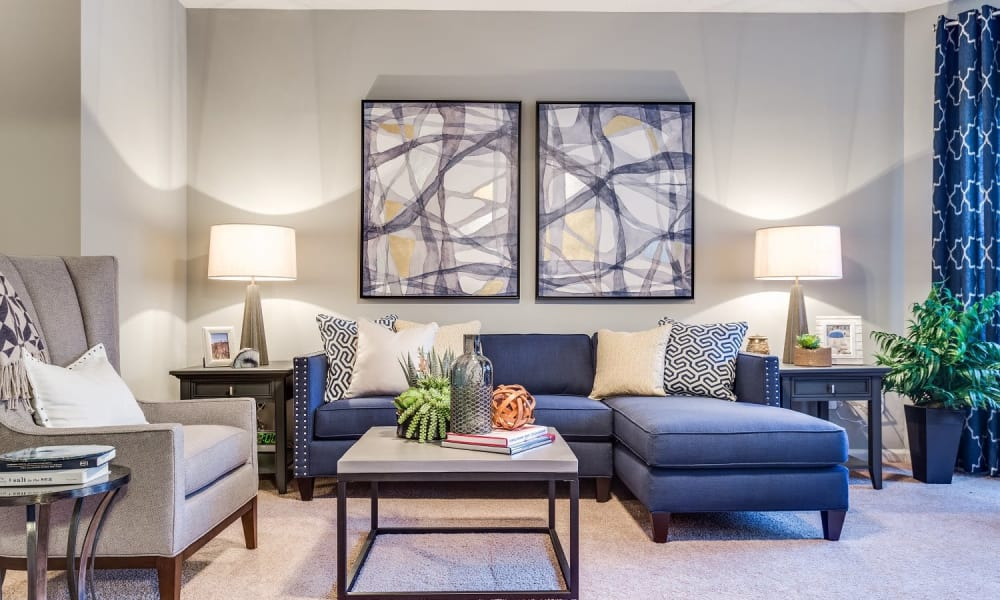 Modern living spaces at Harrison Grande apartments