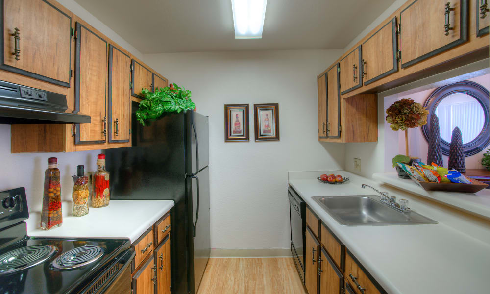 Verona Park Apartments offers a modern kitchen