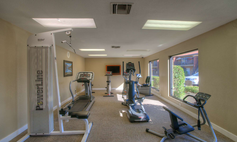 FItness center at Verona Park Apartments