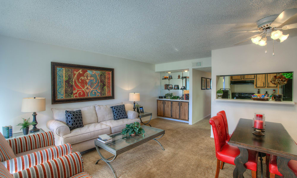 Enjoy an ample living space at Verona Park Apartments