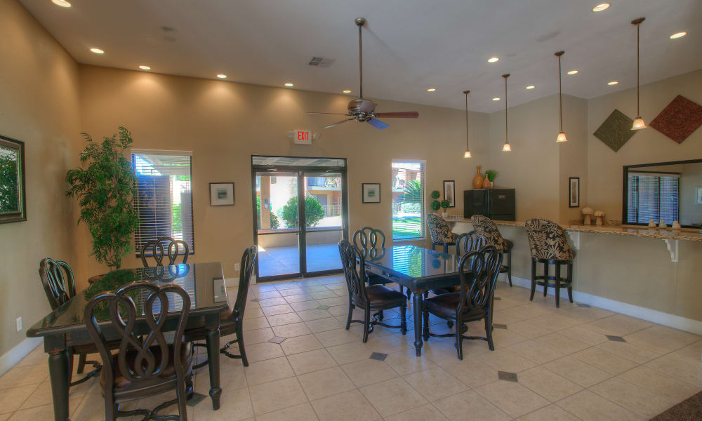 Interior of the Verona Park Apartments clubhouse in Mesa