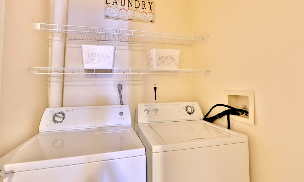 Washing and dryer machine at Silver Spring Station Apartment Homes in Baltimore, MD