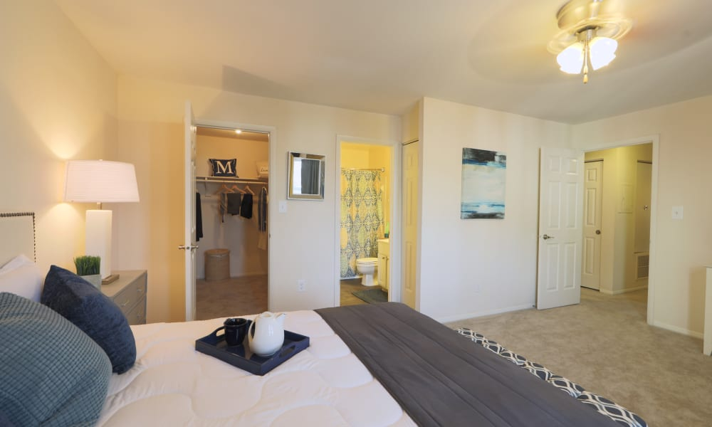 Silver Spring Station Apartment Homes offers a beautiful bedroom in Baltimore, MD
