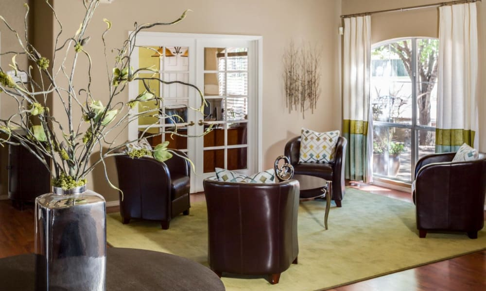 Clubhouse interior at La Ventana Apartment Homes