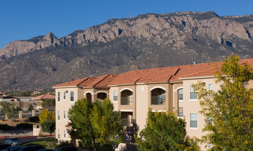 Apartments and mountains view at La Ventana Apartment Homes