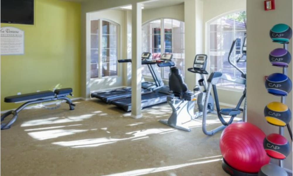 La Ventana Apartment Homes fitness center in Albuquerque