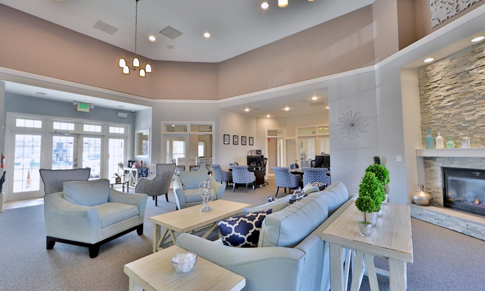 Clubhouse living at Seneca Bay Apartment Homes in Middle River, MD