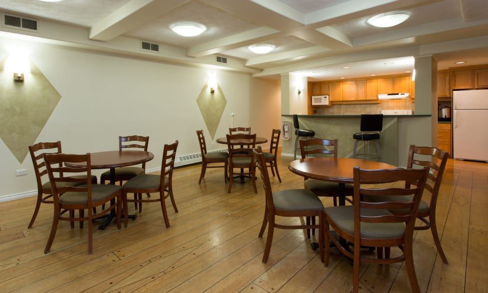 Dining hall at Fraser Tolmie Apartments in Victoria, British Columbia