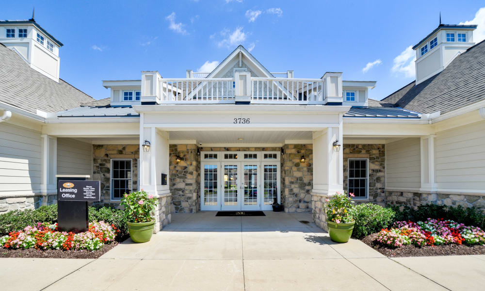 Leasing office at Seneca Bay Apartment Homes in Middle River, MD