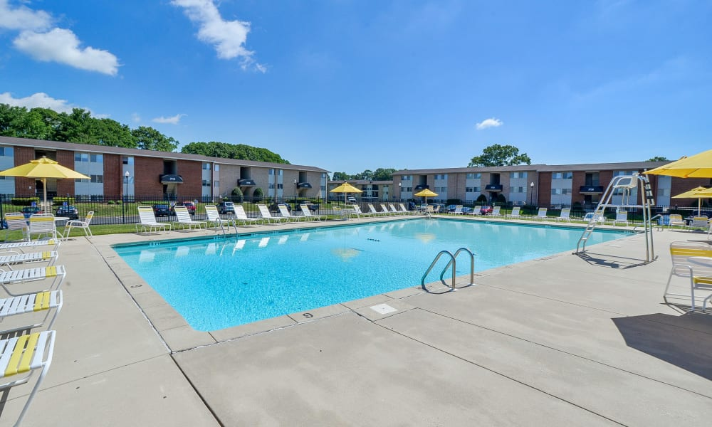 Seneca Bay Apartment Homes offers a swimming pool in Middle River, MD