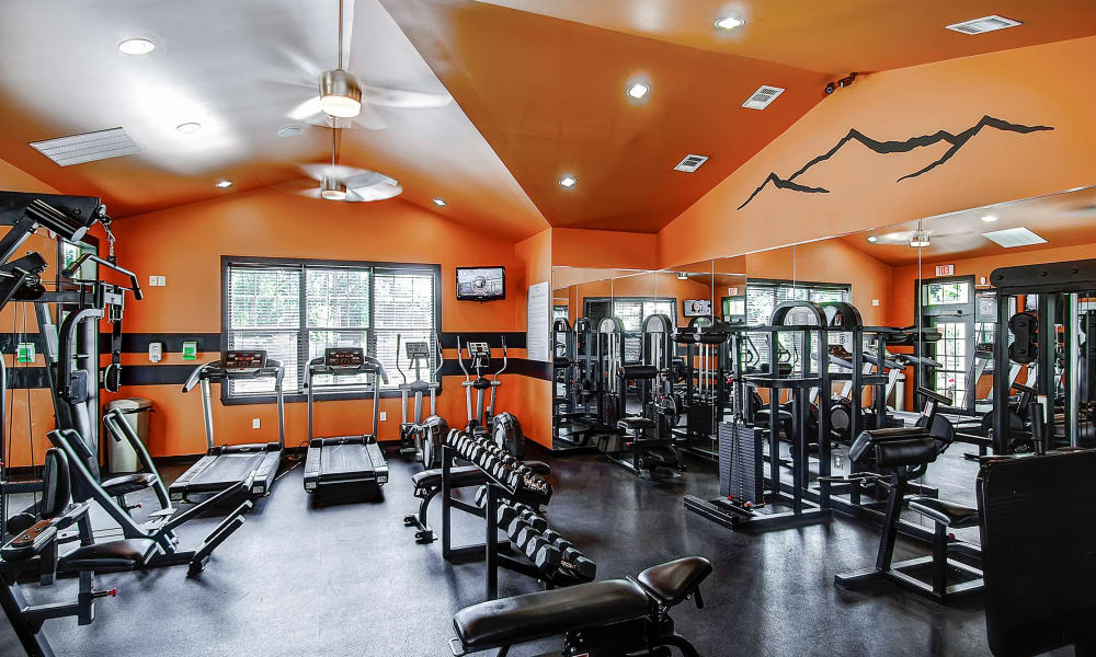 Stay healthy in the Peaks at Woodmen Apartments fitness center