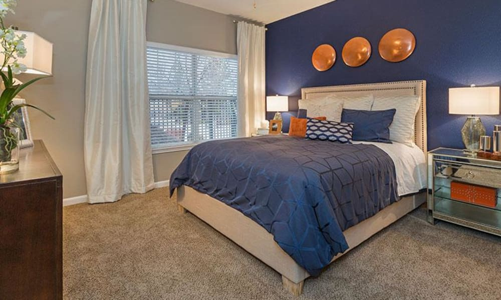 Cozy bedroom at Retreat at Cheyenne Mountain Apartments