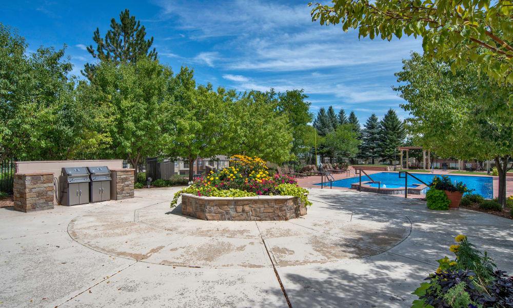 Retreat at Cheyenne Mountain Apartments poolside in Colorado Springs, Colorado