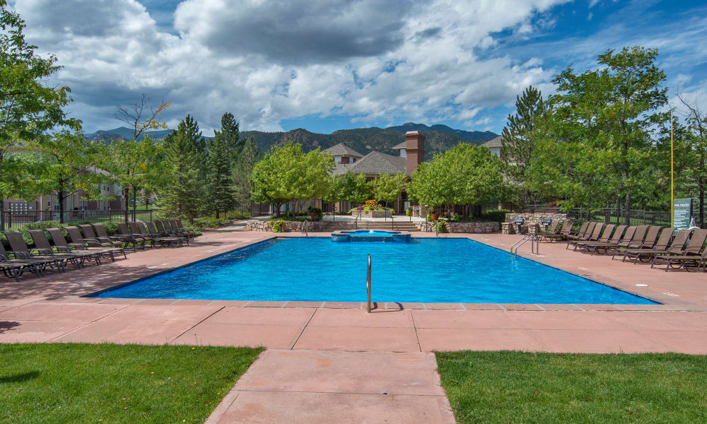 Swimming pool at Retreat at Cheyenne Mountain Apartments