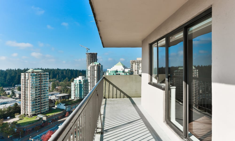 Panarama Tower offers a balcony in Burnaby, BC