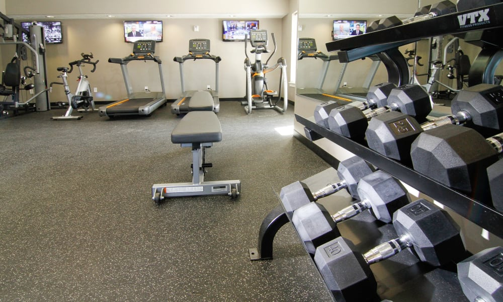 Fitness center at The Hills at Renaissance in Woods Cross