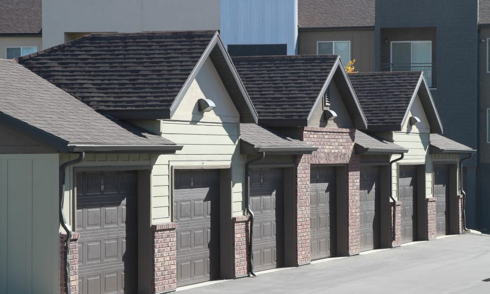 Garages available at Wilshire Place Apartments