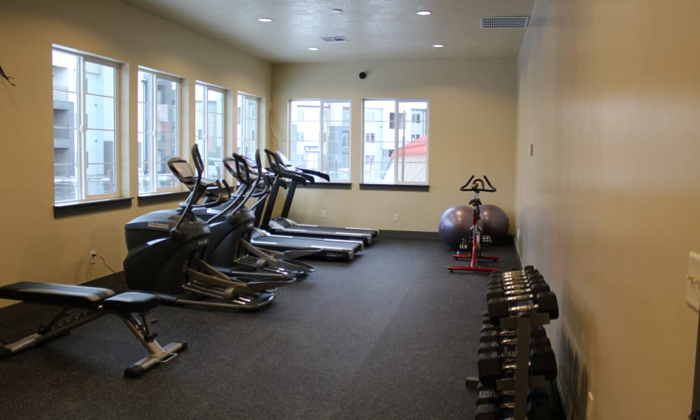 Wilshire Place Apartments fitness center in West Jordan