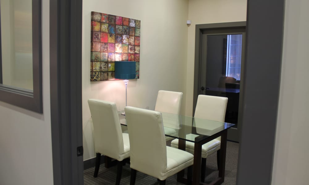 Dining room at Wilshire Place Apartments