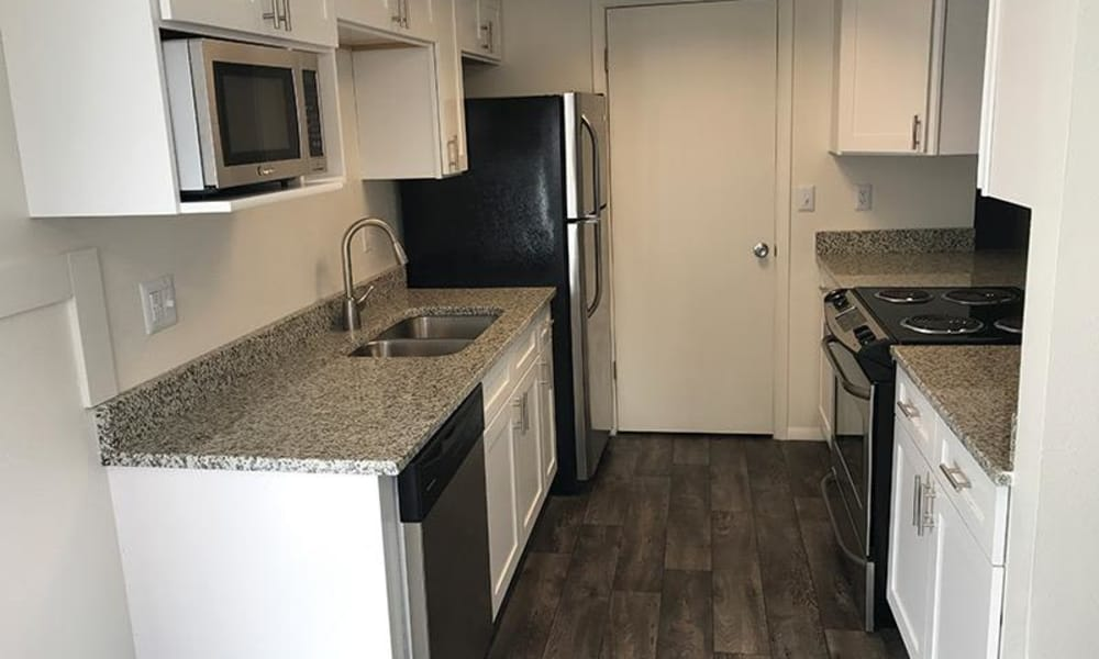Renovated kitchen at Windgate Apartments