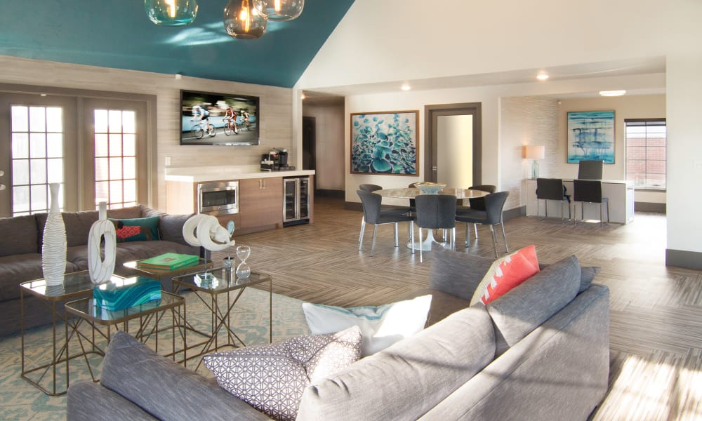 Clubhouse interior view at Windgate Apartments