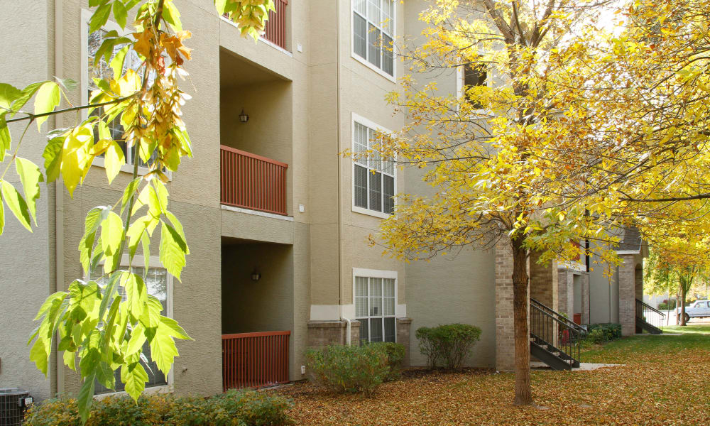 Apartments with balconies at Preston Hollow Apartments