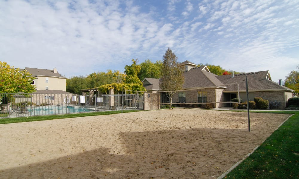 Volleyball court at Preston Hollow Apartments in Murray