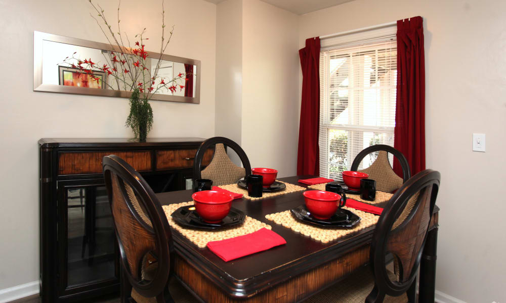 Beautiful dining table at The Avenue in Greensboro, North Carolina