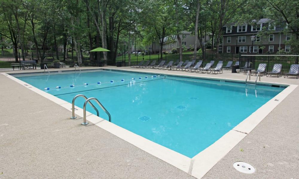 Swimming pool at apartments in Greensboro, North Carolina