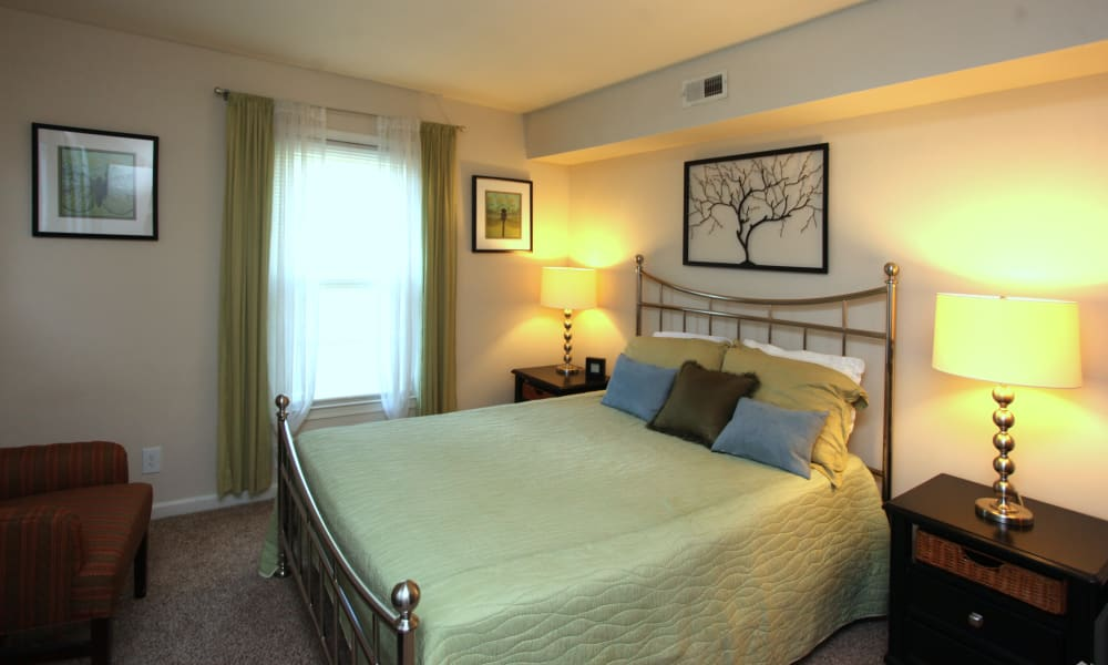 Our apartments in Greensboro, North Carolina have a cozy bedroom