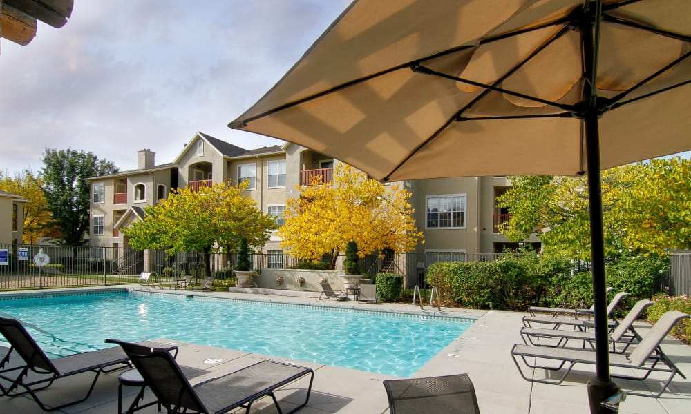 Preston Hollow Apartments offers a shimmering pool in Murray