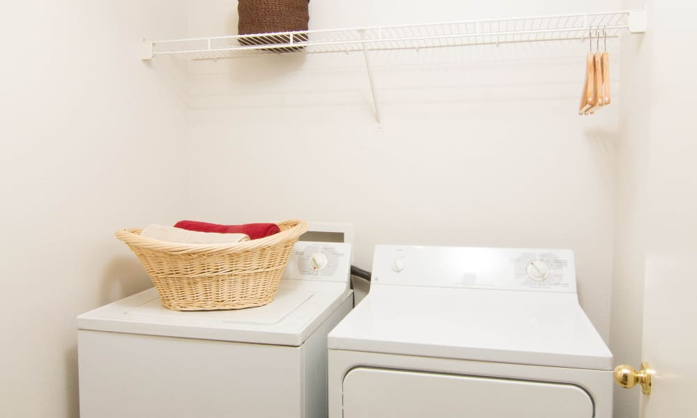 Washer and dryer at Preston Hollow Apartments