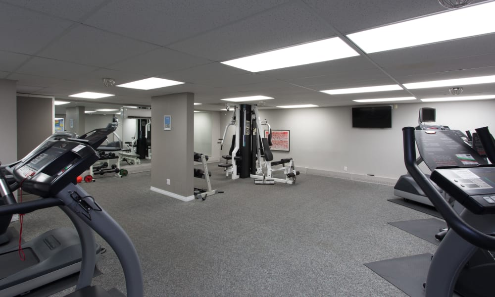 Fitness center at Royal View Apartments in Calgary, AB
