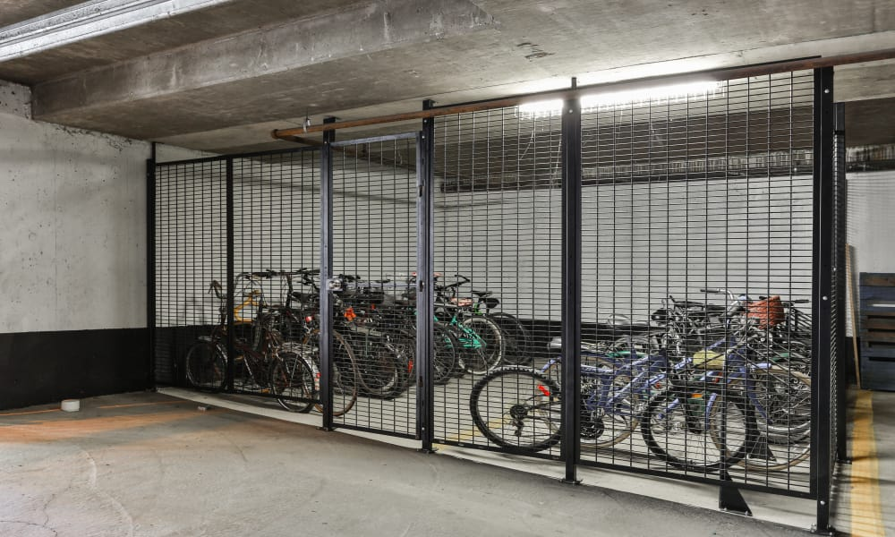 Dunway Court bike storage in Vancouver