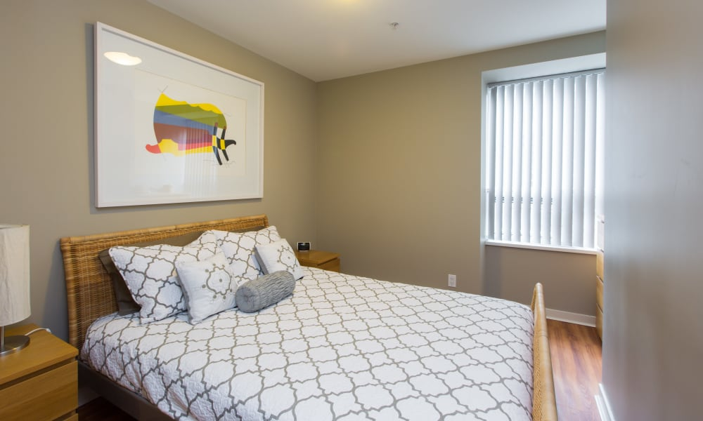 Beautiful bedroom at Yaletown 939 in Vancouver, British Columbia